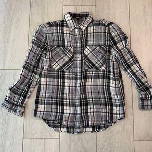 EXPRESS women's size small flannel shirt.
